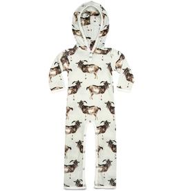 baby milkbarn organic hooded romper