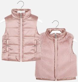 girl mayoral reversible vest
