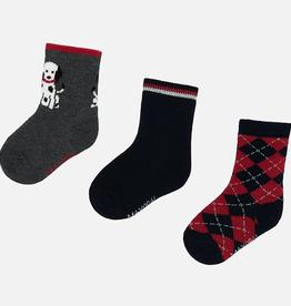 boy mayoral set of 3 socks