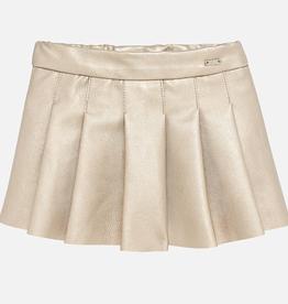 little girl mayoral vegan leather skirt