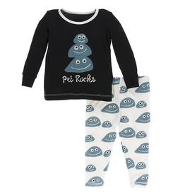 kid kickee pants ls pajama set