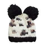 fashion accessory leopard pom hat