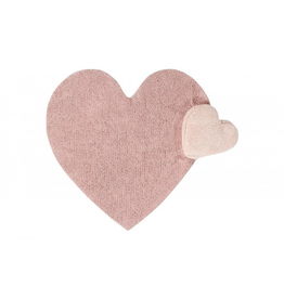 "decor lorena canals washable puffy love rug, blush, 5'3"" x 5'11"""