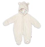 baby magnetic baby bear minky footies