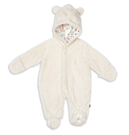 baby magnetic baby bear minky footies