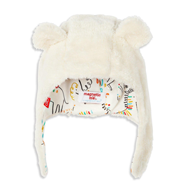 baby magnetic baby bear minky hat