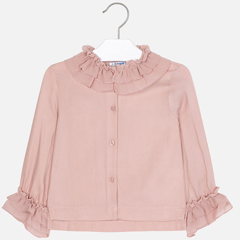 girl mayoral blouse with chiffon neck