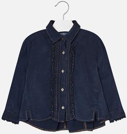 girl **sale** mayoral denim ruffled blouse