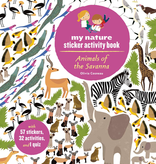 book animals of the savanna sticker book