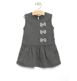 girl city mouse organic sleeveless bow tie dress