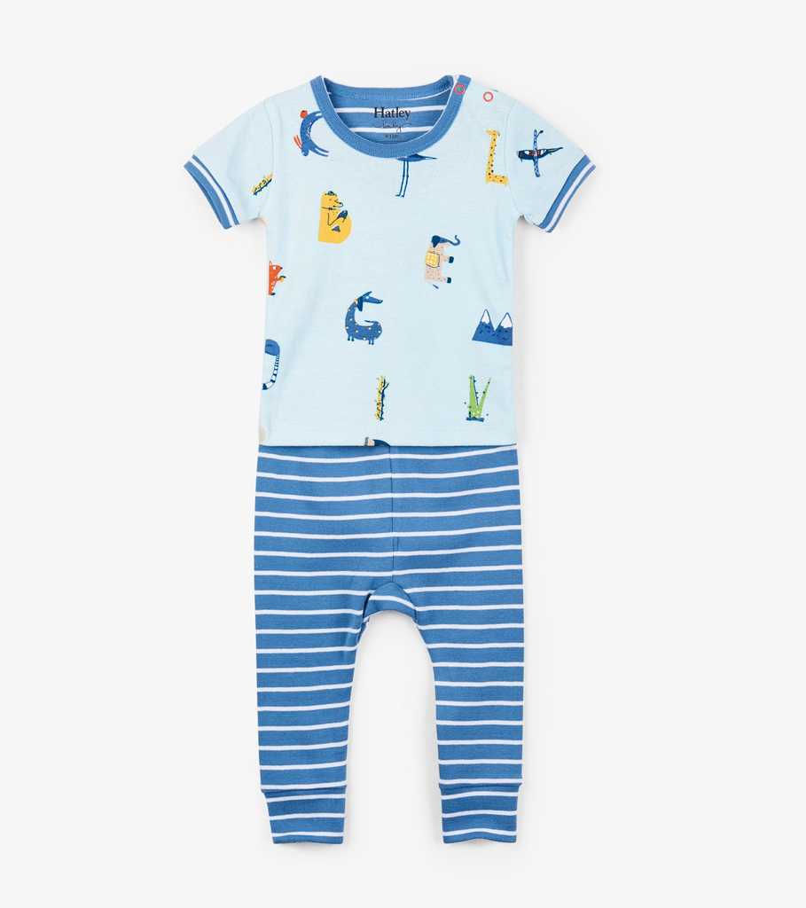 little one hatley organic pajama set