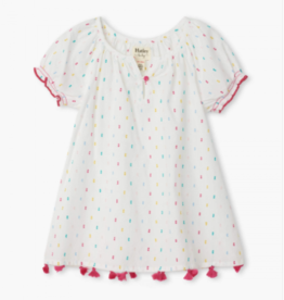 little girl hatley notched neck dress