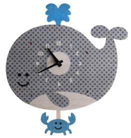 decor modern moose whale pendulum clock