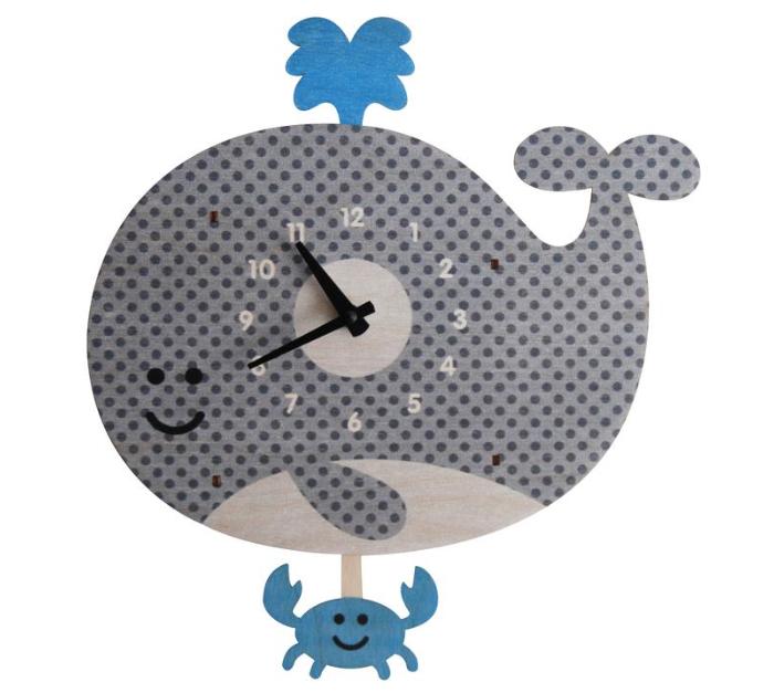 decor modern moose whale pendulum clock