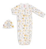 baby magnetic me organic cotton gown set