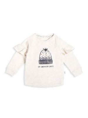girl miles baby ruffle sweatshirt