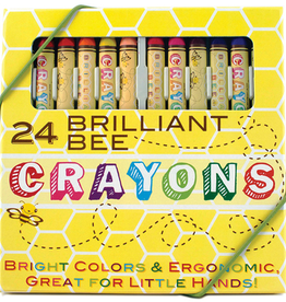 playtime brilliant bee crayons, 24 pack