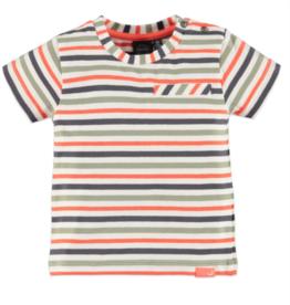 little boy babyface striped tee