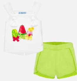 little girl mayoral shorts set