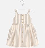 girl mayoral striped linen dress
