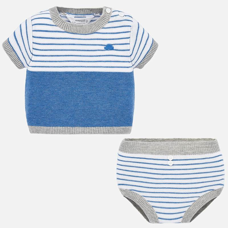 little boy mayoral knit set