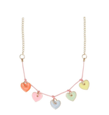 fashion accessory meri meri enamel hearts necklace