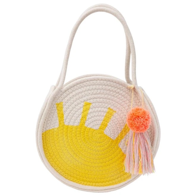 fashion accessory meri meri sun style woven rope bag