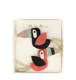 fashion accessory meri meri toucan hair clips