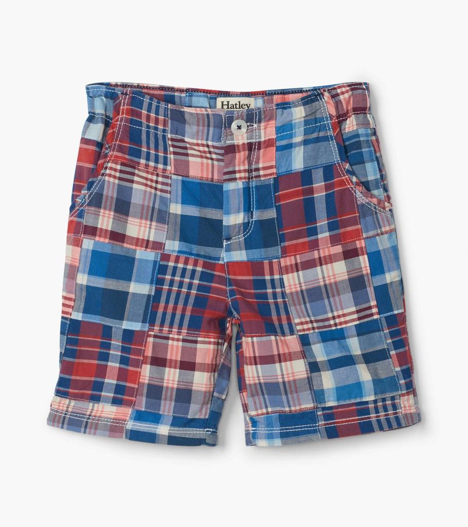 boy hatley plaid shorts