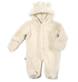 baby magnetic baby bear fleece footie