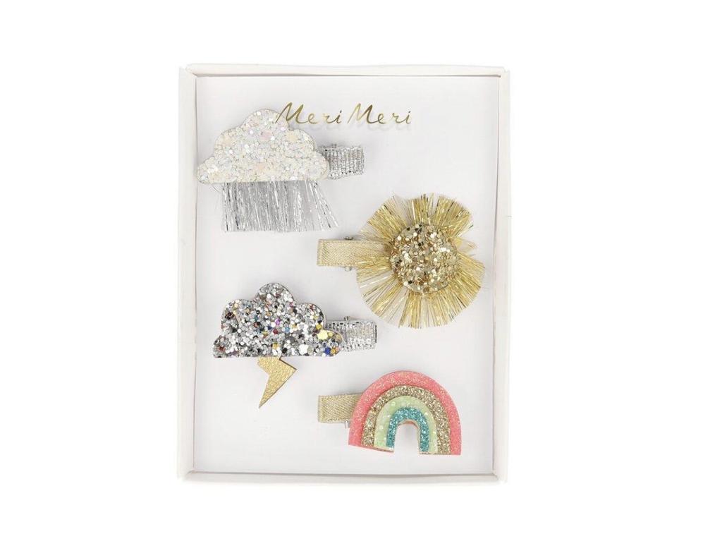 fashion accessory meri meri sparkly weather hair clips