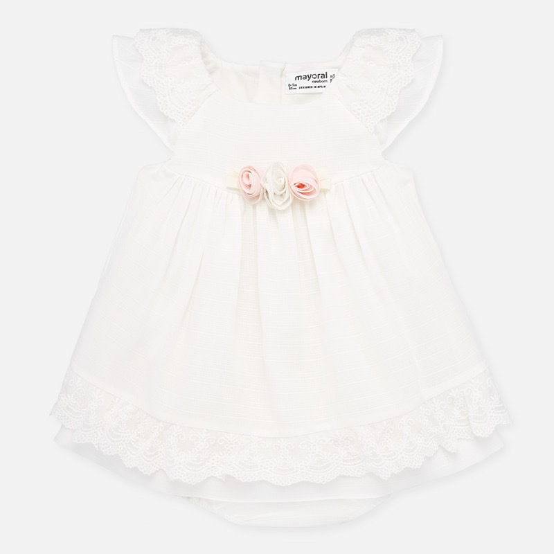 little girl mayoral lace accent dress