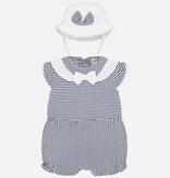 little girl mayoral romper & hat
