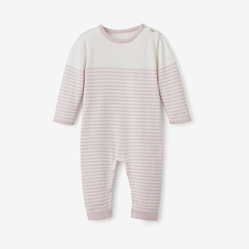 baby lightweight striped jumpsuit