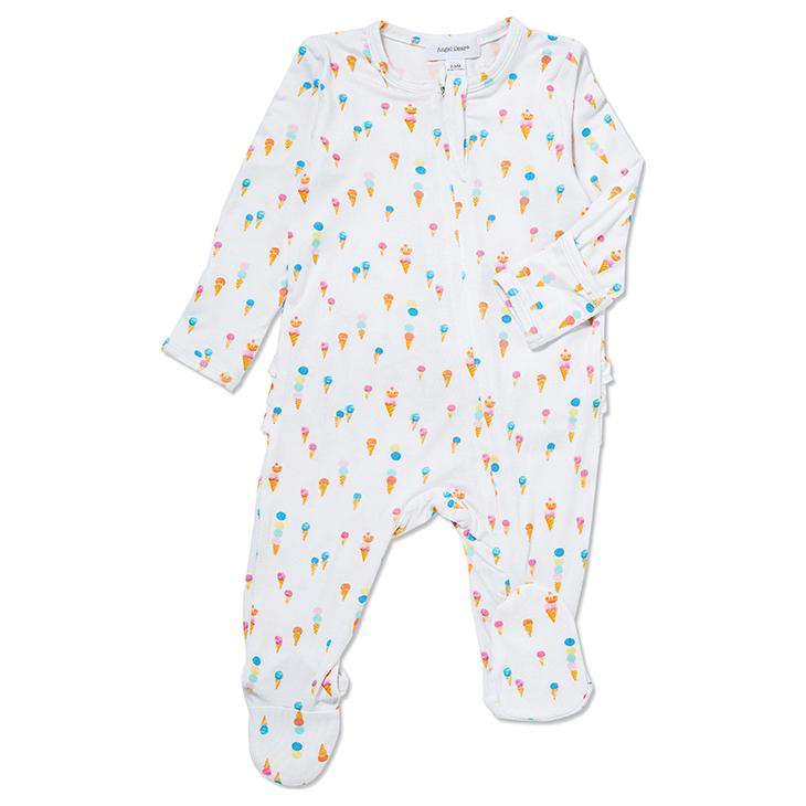 baby angel dear zipper footie