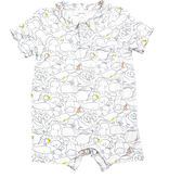 little boy angel dear polo romper