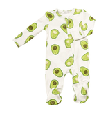 little one SS20 angel dear zipper footies