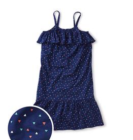 girl tea collection ruffled midi dress
