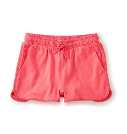 girl tea collection pom pom trim shorts