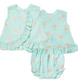 little girl angel dear ruffle top & bloomer