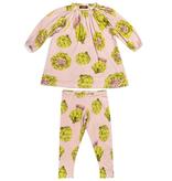 baby girl milkbarn organic ls dress and legging set