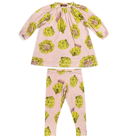 baby girl milkbarn organic ls dress and legging set