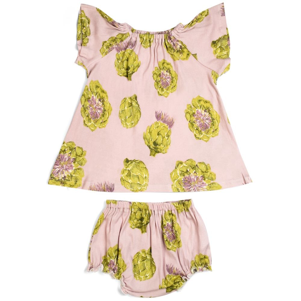 baby milkbarn organic dress & bloomer
