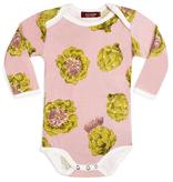 baby milkbarn organic l/s onesie