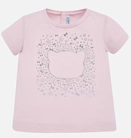 little girl mayoral metallic print tshirt