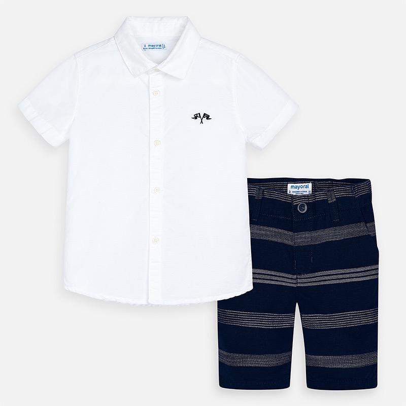 boy mayoral shirt/shorts set