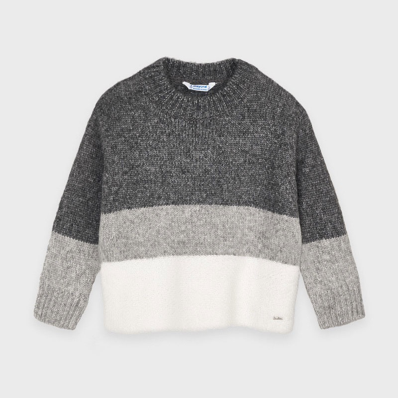 girl mayoral contrast sweater