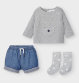 baby boy mayoral shorts & sweater set
