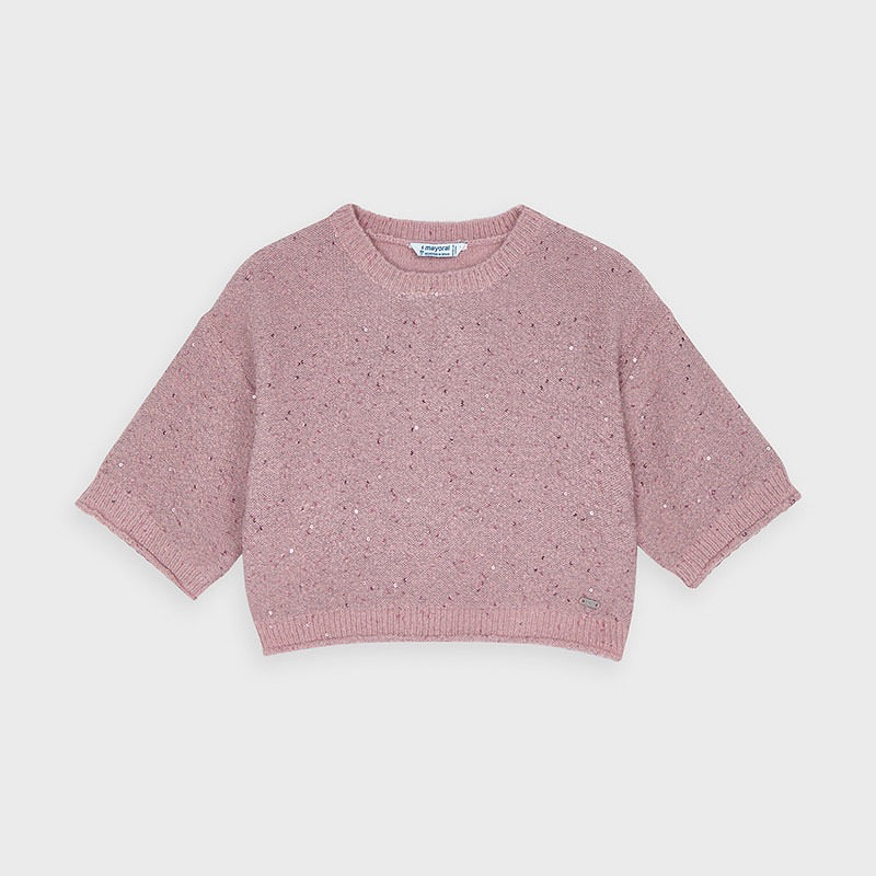 girl mayoral 3/4 sparkle sweater