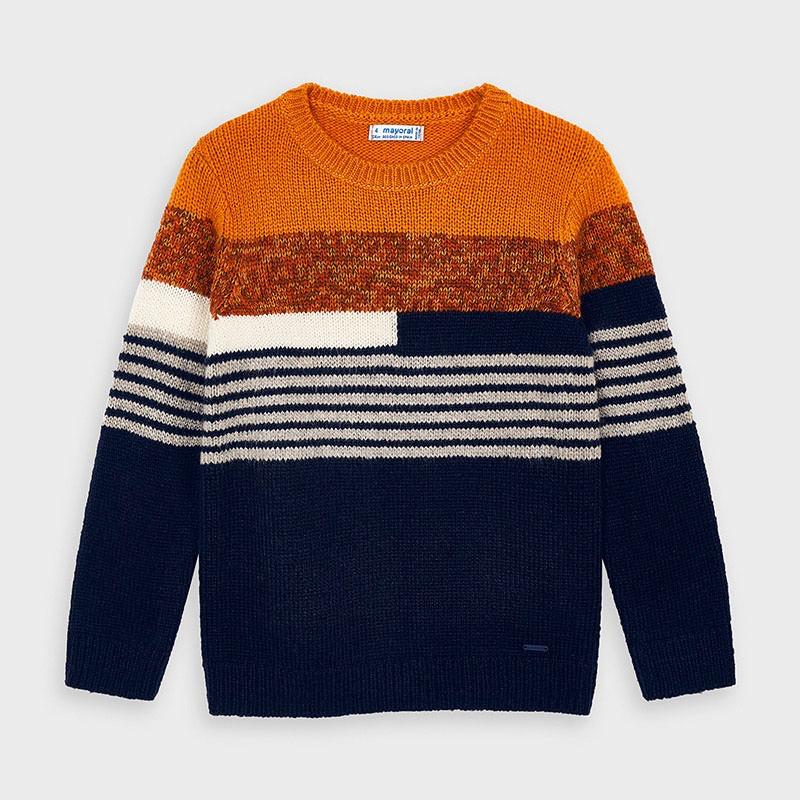 boy mayoral striped sweater